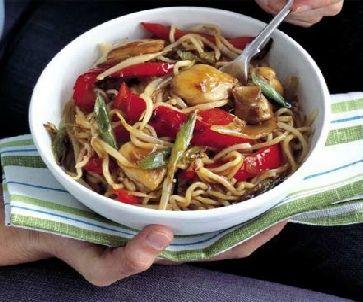 Low FODMAP Recipe - Quick chicken noodles
