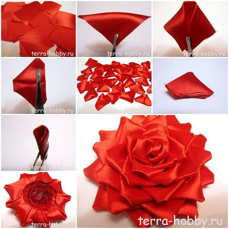 How to make Elegant Ribbon Rose for Wedding DIY tutorial instructions, How to, how to do, diy instructions, crafts, do it yourself, diy website, art project ideas