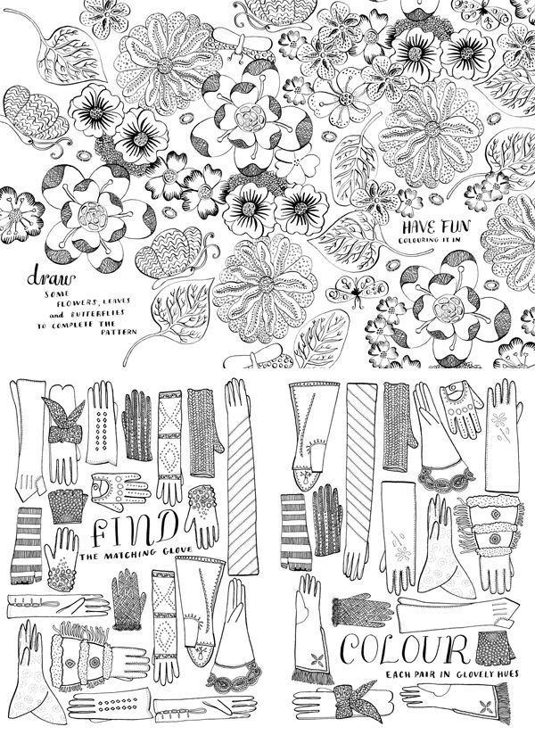 My Wonderful World of Fashion by Nina Chakrabarti ( colouring book) - birthday pressie WOW!Colors Book, Nina Chakrabarti Book, Art Journals, Pattern Illustration, Creative Colors, Pattern Inspiration, Flower Power, Fashion Illustration Pattern, Design Bags