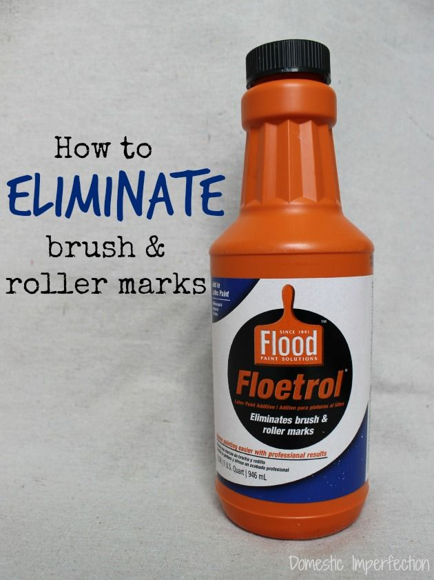 Seeing streaks? Eliminate brush marks with Floetrol paint additive! See 8 other painting tips from Domestic Imperfection. || @domesticashley