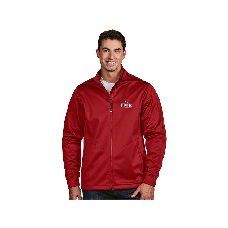 Men's Antigua Los Angeles Clippers Golf Jacket, Size: Small, Dark Red