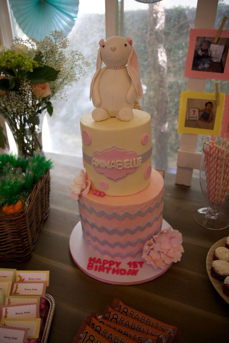 #bunnybirthday #firstbirthday #cake #popular #cute #food #dessert #pretty #love