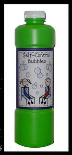 This is a fun activity that allows chidlren to experience what it is like to use self control (don't pop the bubbles). You can also use this to teach deep breathing for a coping skill when they feel anxious or angry.