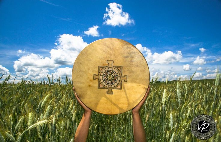 16'Shaman drum, Frame drum, fullMoon-drum,Stage drum,Deer Hide paited                       – VPdrums