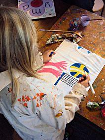 t-shirt schilderen kinderfeeestje