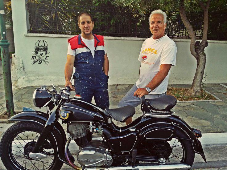 The people behind the restoration.  #NSU #motorcycle #Restoration