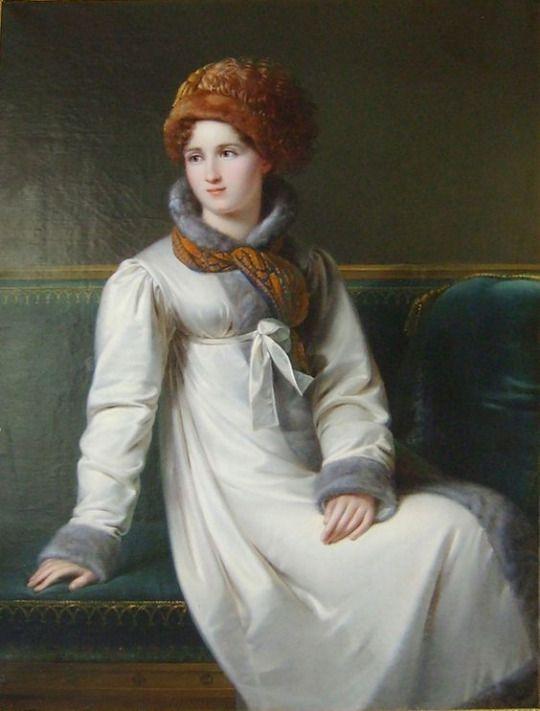 Portrait of an Russian Lady   Francois-Joseph Kinsoen (c. 1810s)