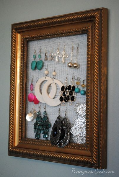 DIY Earring Holder | crafty things to try | Pinterest