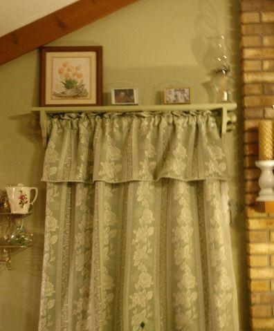 Window Shelf With Curtain Rod