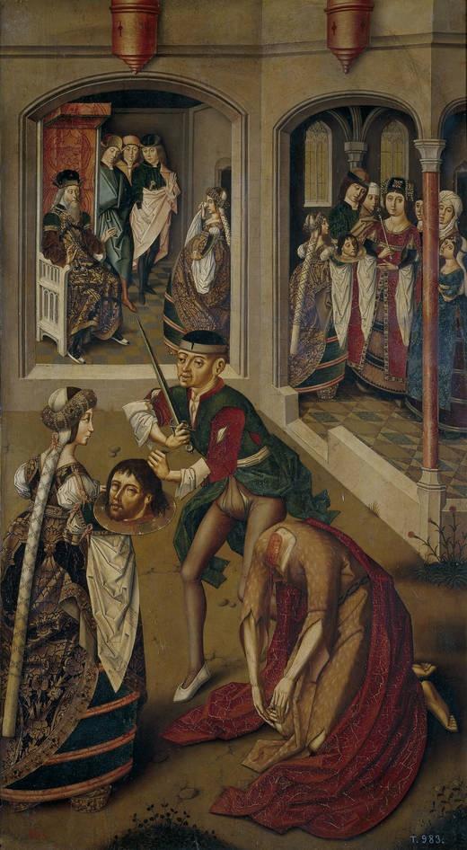Maestro de Miraflores. Degollación de San Juan Bautista. 1490 - 1500. Museo del Prado, Madrid