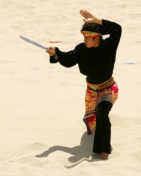 Pencak Silat - an umbrella term for the indigenous martial arts created in Indonesia. Pencak is the performance aspects of the martial art, while silat is the essence of the fighting and self-defense. It is often said by practitioners that there can be no silat without pencak, on the other hand pencak without silat skills is purposeless.