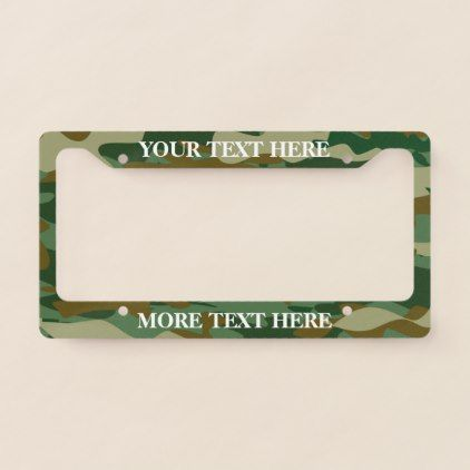 #Hunter green army camo custom license plate frame - #birthday #gift #present #giftidea #idea #gifts