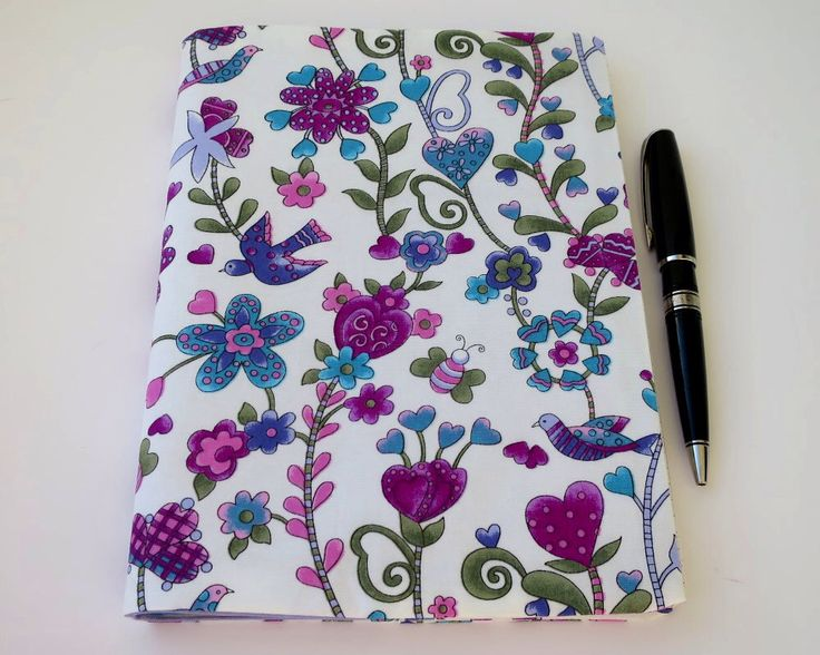 Fabric Book Cover, Suits A5 Notebook, Bonus Notebook Included, Purple and White Flower Fabric, Pretty Journal, Cute Notebook, Book Cover by JadoreBooks on Etsy https://www.etsy.com/au/listing/514974617/fabric-book-cover-suits-a5-notebook