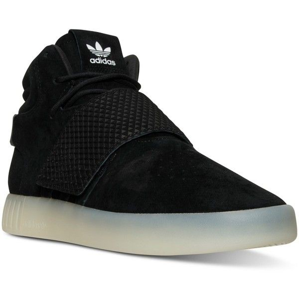 adidas Men\u0027s Tubular Invader Casual Sneakers from Finish Line ($100) ?  liked on Polyvore