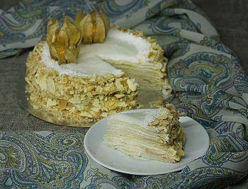 """Постный кокосовый торт """"Наполеон"""" - рецепт с пошаговыми фото / Меню недели"""