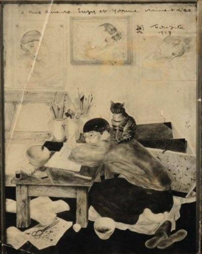 Self-portrait (1928) – Léonard Tsugouharu Foujita (aka Fujita Tsuguharu)