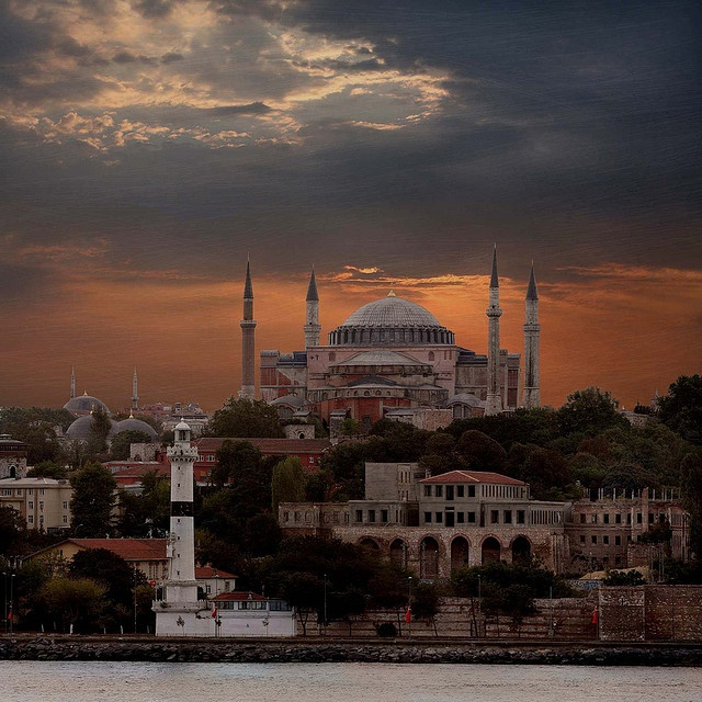 Hagia Sofia from the Golden Horn, Istanbul, Turkey