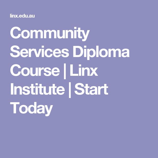 Community Services Diploma Course | Linx Institute | Start Today