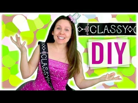 DIY Beauty Queen Sash - pageant, prom, costume