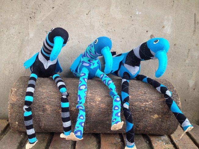 Turquoise Sock Birds R100 each https://www.facebook.com/snugglebuggoodies