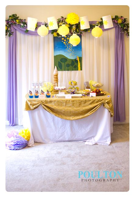 Rapunzel Birthday Party | yellow lanterns work perfectly!