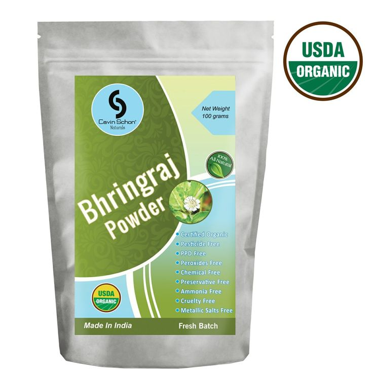 Cavin Schon USDA Certified Organic Bhringraj Powder - 100% Natural and Chemical Free Hair conditioning -- You can find out more details at the link of the image. #hairdo