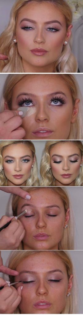 Wedding Makeup Ideas for Brides - Soft Bridal Makeup - Romantic make up ideas for the wedding - Natural and Airbrush techniques that look great with blue, green and brown eyes - rusti evening glow looks - https://thegoddess.com/wedding-makeup-for-brides #makeupforbrowneyes #weddingmakeup