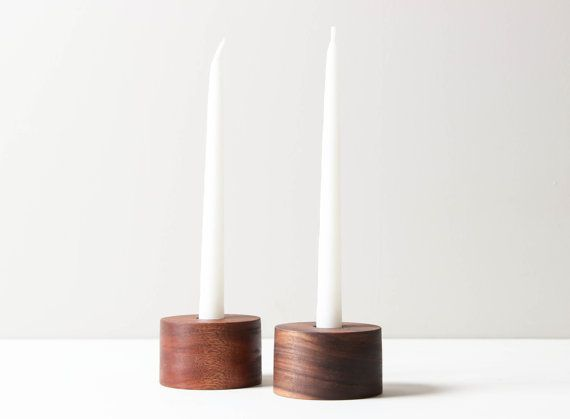 Basic Taper Holder Minimalist Taper Candle by WorleysLighting
