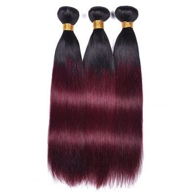 Human Hair Ombre Straight Hair Wefts