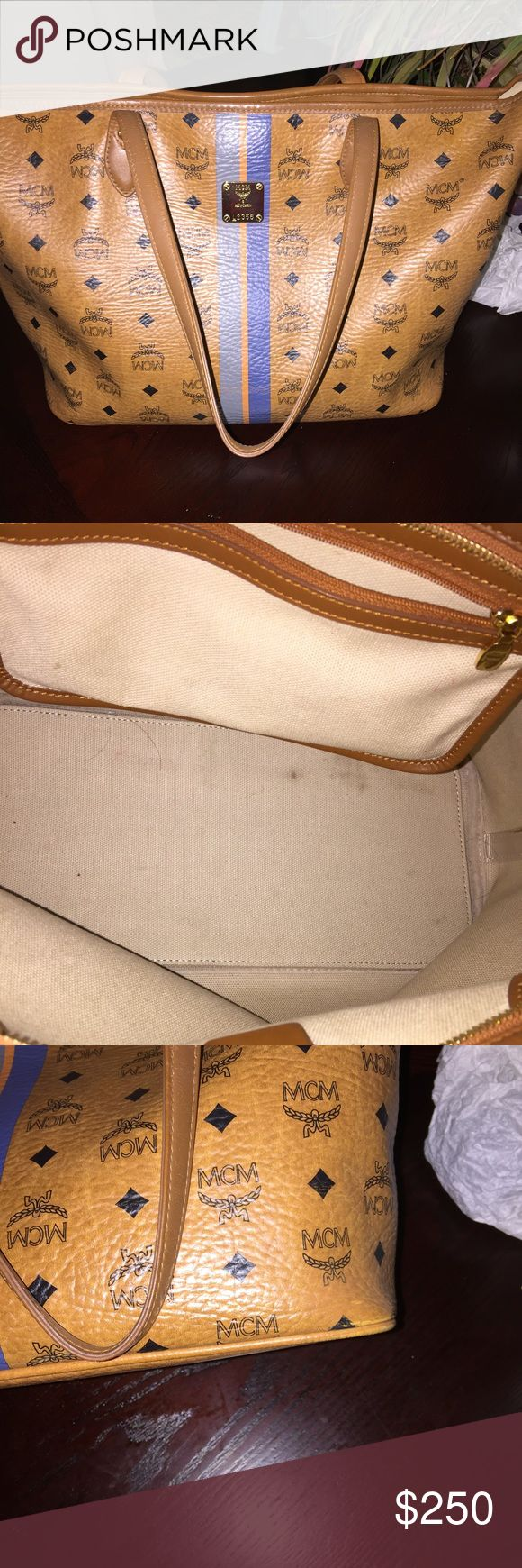Authentic mcm bag Great condition no smell pet free large size MCM Bags Totes