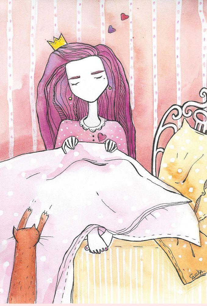 #happiness #card #otkritka #happy #postcrossing #girl #red #blue #black #postcard #postal #watercolor #color #sketch #art  #подарки #акварельки #акварель #watercolor #кот #кошка #котик #cat