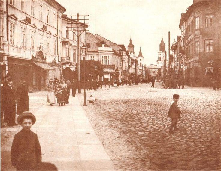 koniec XIX w. Krakowskie Przedmieście