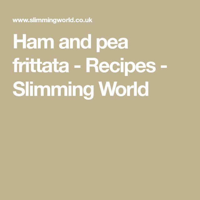 Ham and pea frittata - Recipes - Slimming World