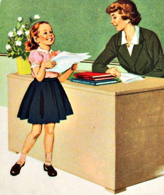 Старые открытки ко дню учителя
