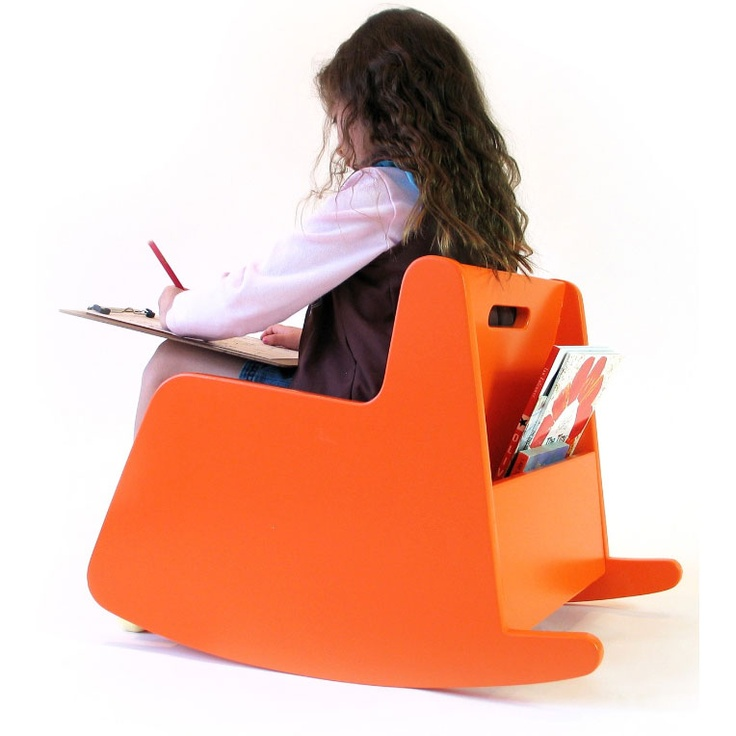 Hiya Rocker in Orange from @PoshTots #orange #furniture #decor #kids #poshtots