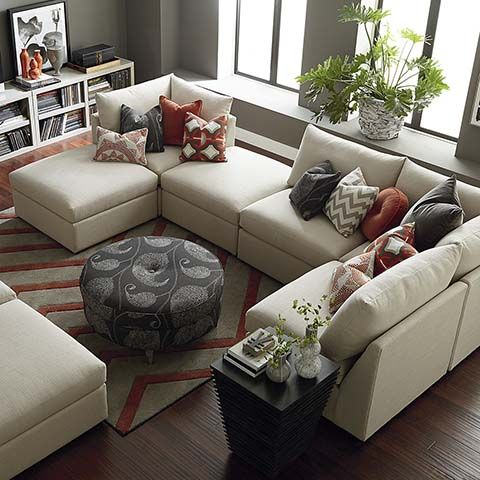 Best 25 u shaped sectional ideas on pinterest u shaped couch u shaped couch living room and for Bassett living room u shaped sectional
