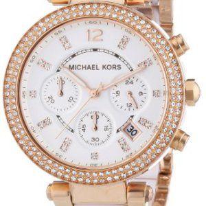 Michael Kors - MK5774 - Montre Femme - Quartz Chronographe - Bracelet Acier Inoxydable Plaqué Multicolore