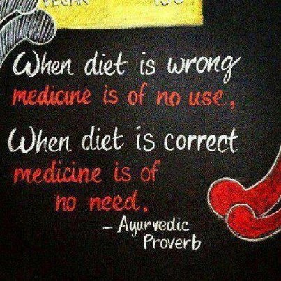 When diet is wrong medicine is of no use, When diet is correct medicine is of no need.