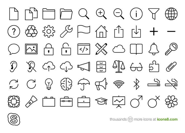 Download 1100+ free iOS 7 icons | Icons8