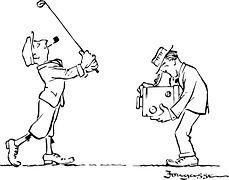 Golf, Kreslený Film, Golfista