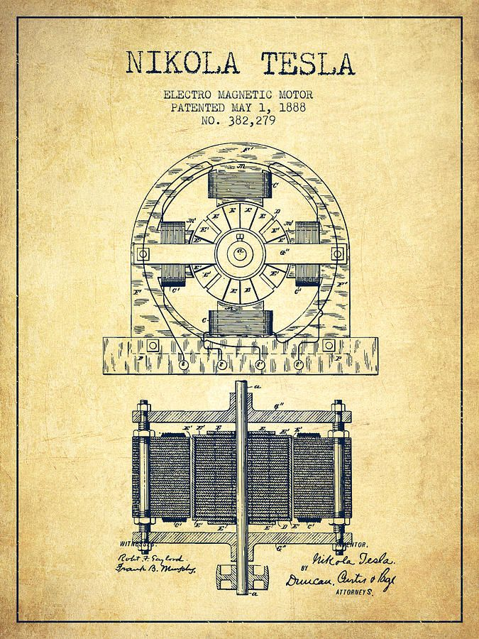best tesla images nikola tesla patents tesla  nikola tesla electro magnetic motor patent drawing from 1888 v by aged pixel