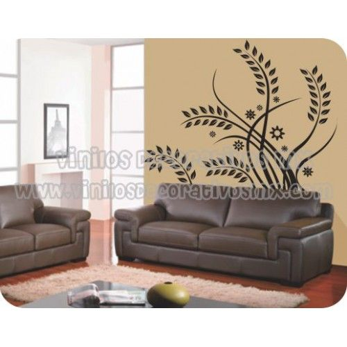 Vinilos decorativos natura 47 plantas largas para for Adornos decorativos para sala