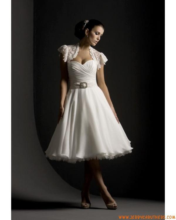 korte prinses chiffon jurk met kanten jasje