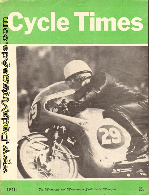 1961 April Cycle Times Magazine Back-Issue
