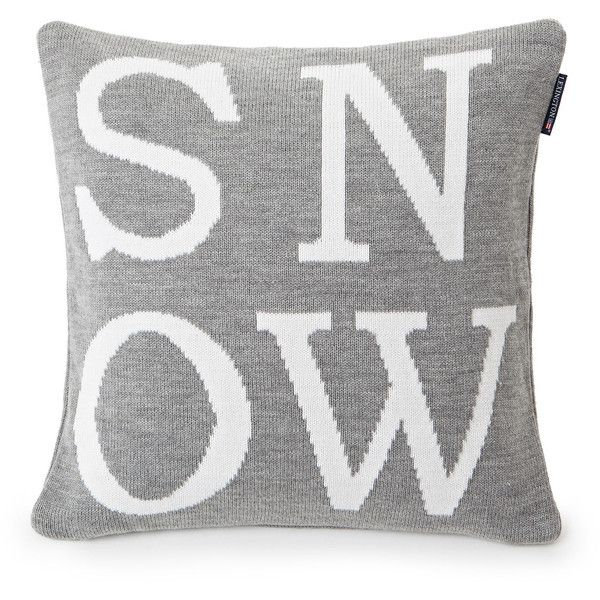 Lexington Knitted Snow Sham ($73) ❤ liked on Polyvore featuring home, bed & bath, bedding, bed accessories, grey, gray shams, cotton bedding, gray bedding, contemporary bedding and grey shams
