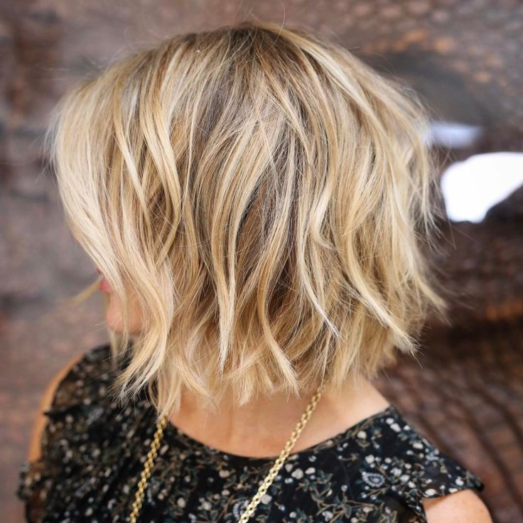 Choppy Blonde Bob Cut