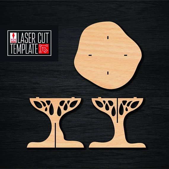 Plywood table in the form of a tree. Layout for laser cutting. Mock for milling. Cnc file. laser cut file. Instant download. Vector diagram for CNC machines. Laser models for cutting. Vector plan / model for laser cutting, cnc, lasercut, laser machine. This model is designed for plywood thickness of 10 mm. A breadboard model in the form of a tree is ideal for decorating a childrens room. The layout is provided in Adobe (version of Adobe) version 8 EPS (since practice has shown that th...