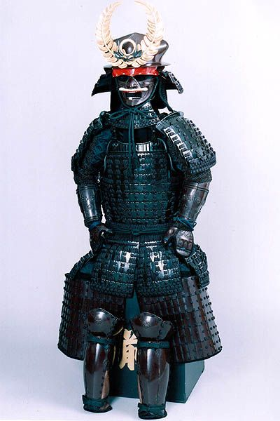 TOKOGAWA'S ARMOUR - SHOGUN TOKUGAWA IEYASU - (1542-1616) FINALLY UNIFIED ALL OF FUEDAL JAPAN UNDER THE TOKUGAWA SHOGUNATE, FOUGHT IN MANY BATTLES WITH THE LIKES OF ODA NOBUNAGA IN HIS RISE TO SHOGUN.