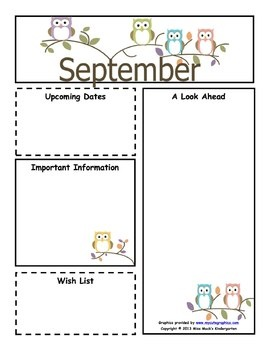 September Monthly Newsletter Template - Customizable