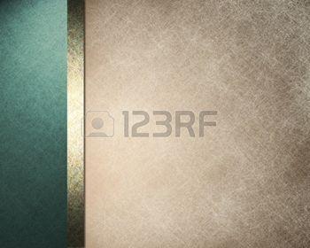 элегантных формальных фоне со светло-коричневыми бежевый иллюстрации пергаментной бумагой с полосатыми границу сторону синего цвета и золотые ленты с старинные текстуры гранж и копирования пространство для брошюры или меню photo